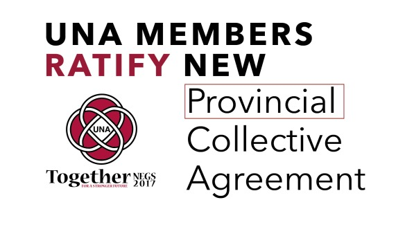 Una Members Ratify New Provincial Collective Agreement United